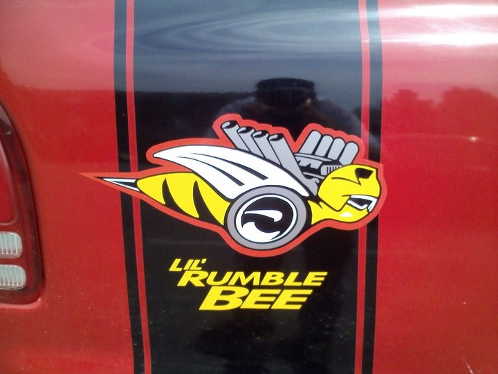 Lil rumble bee custom stripes designed and installed by rogue decals visit us at