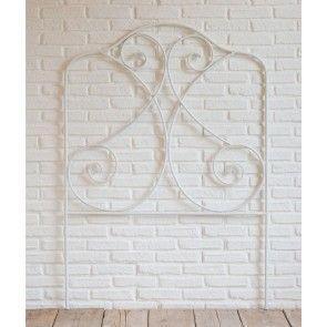 Testata letto singola in ferro bianco shabby Luxe Lodge