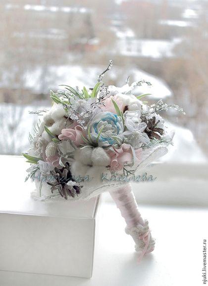 Свадебные цветы ручной работы. Ярмарка Мастеров - ручная работа. Купить Букет зимний свадебный Зимняя сказка. Handmade.