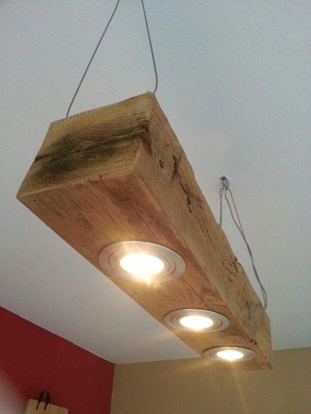 deckenlampe aus altem eichenbalken lamp from old oakwood in 2019 palettenlicht