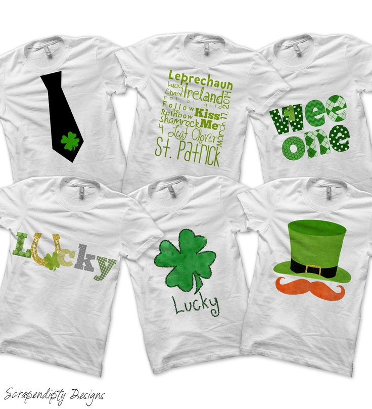 St Patricks Day Bundle Pack - Iron on Mustache Shirt PDF / Boys St Patricks Day Outfit / Toddler Lucky Shirt / Green Shamrock Tshirt DIY -D by ScrapendipityDesigns on Etsy https://www.etsy.com/listing/179643944/st-patricks-day-bundle-pack-iron-on
