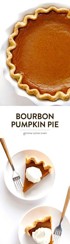 Kick up traditional pumpkin pie with a splash of bourbon! It's easy to make, and sure to be a hit. | http://gimmesomeoven.com