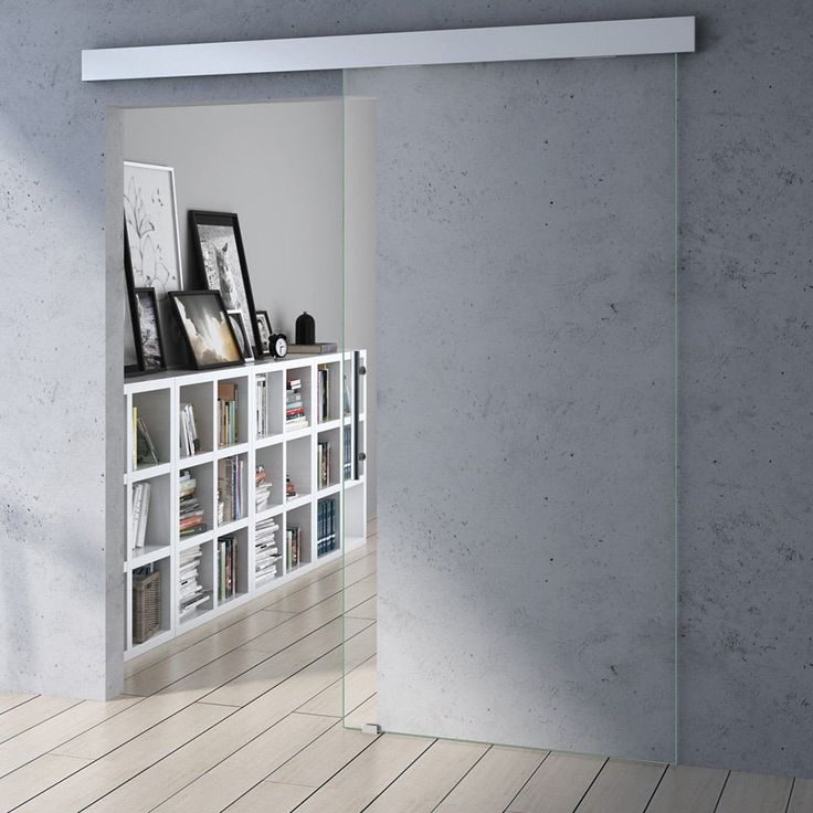 Amalfi Sliding Glass Door Soft Close - Clear