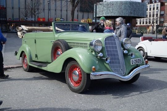 A 1935 Hudson Six Convertible Sedan by Gangloff living in Norway.