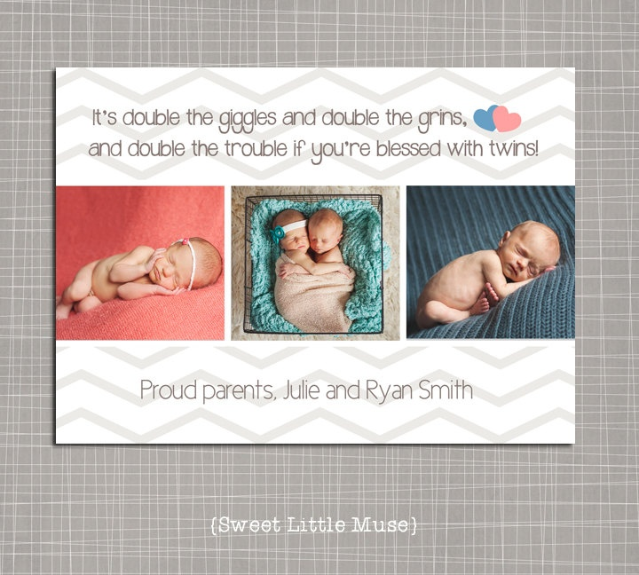 Twins Birth Announcement