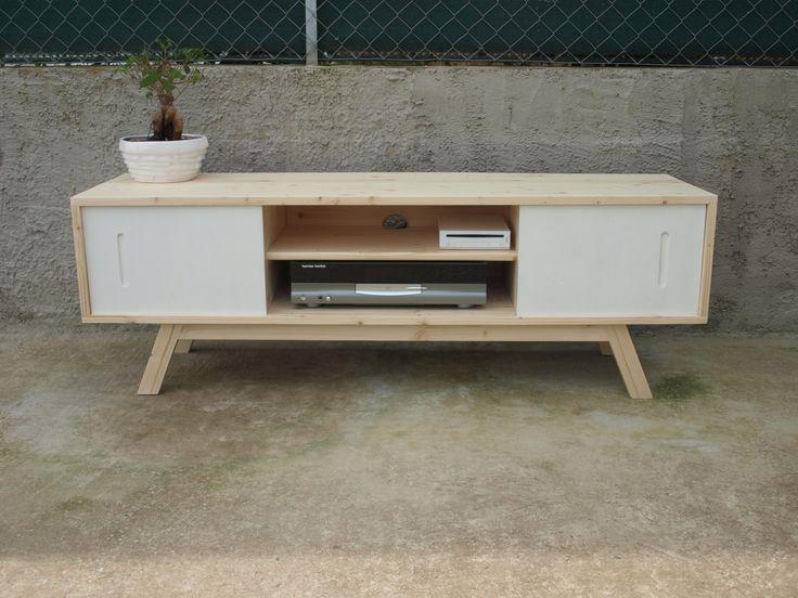Meuble TV d'inspiration scandinave, esprit vintage. : Meubles et rangements par meubles-skand