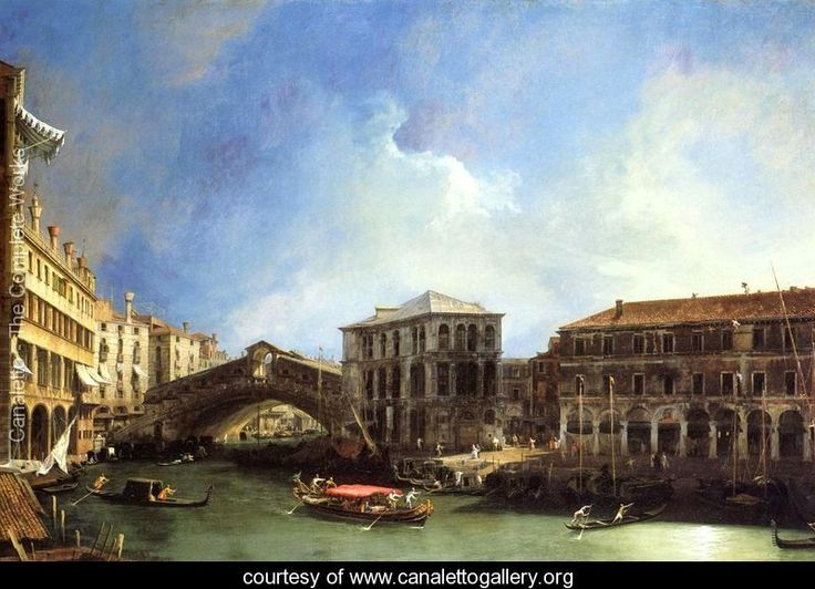Grand Canel: the Rialto Bridge from the North - (Giovanni Antonio Canal) Canaletto - www.canalettogallery.org