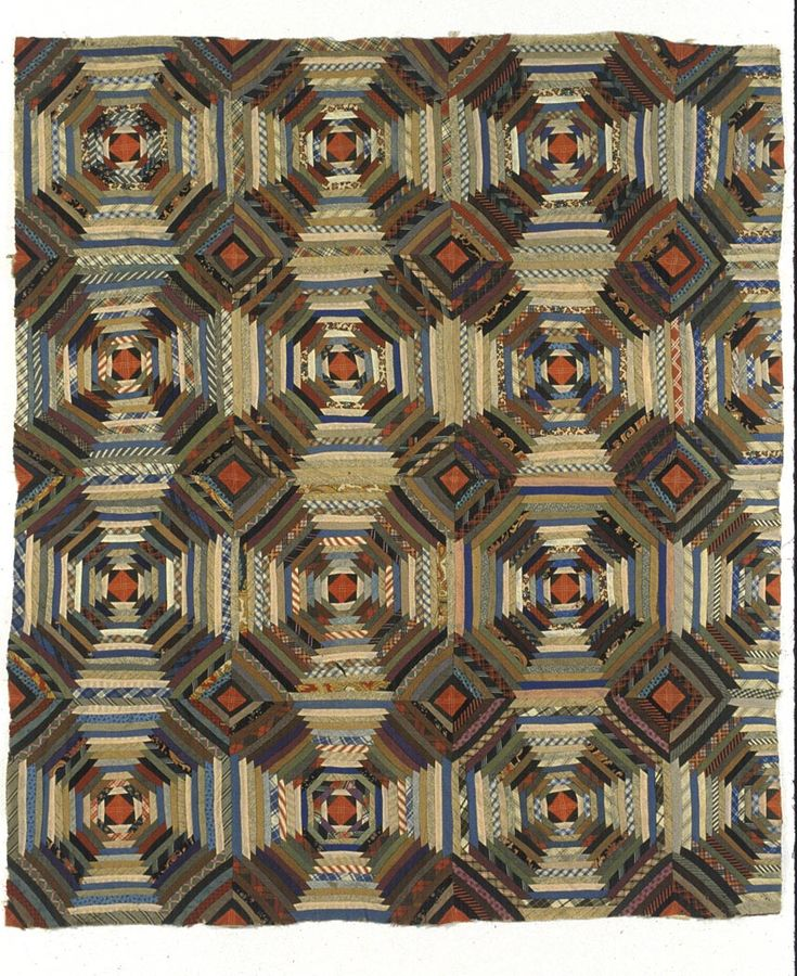 Amazing the quilts they made with limited materials......pineapple quilt  c.1875-1900