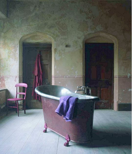 Antique tub ~ I may not have gone where I intended to go, but I think I have ended up where I intended to be.  ~Douglas Adams