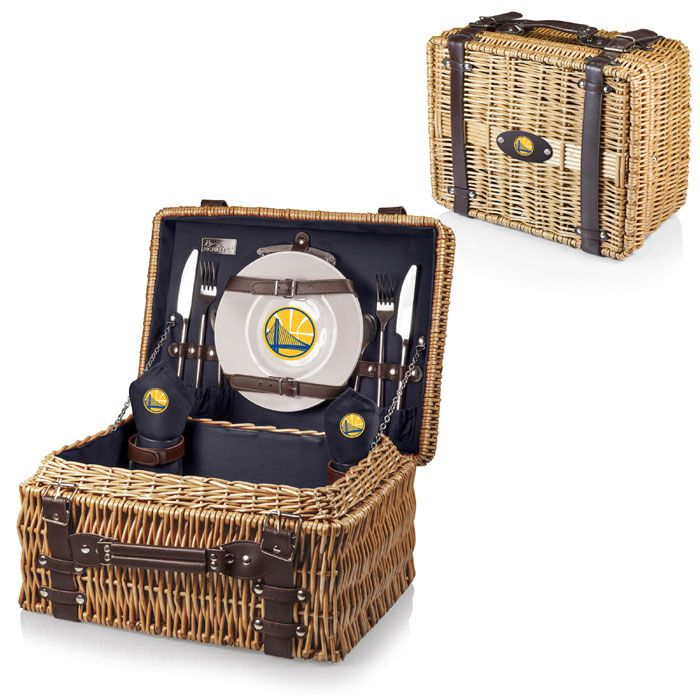 Golden State Warriors Picnic Time Champion Picnic Basket - Navy - Golden State Warriors - Official Online Store