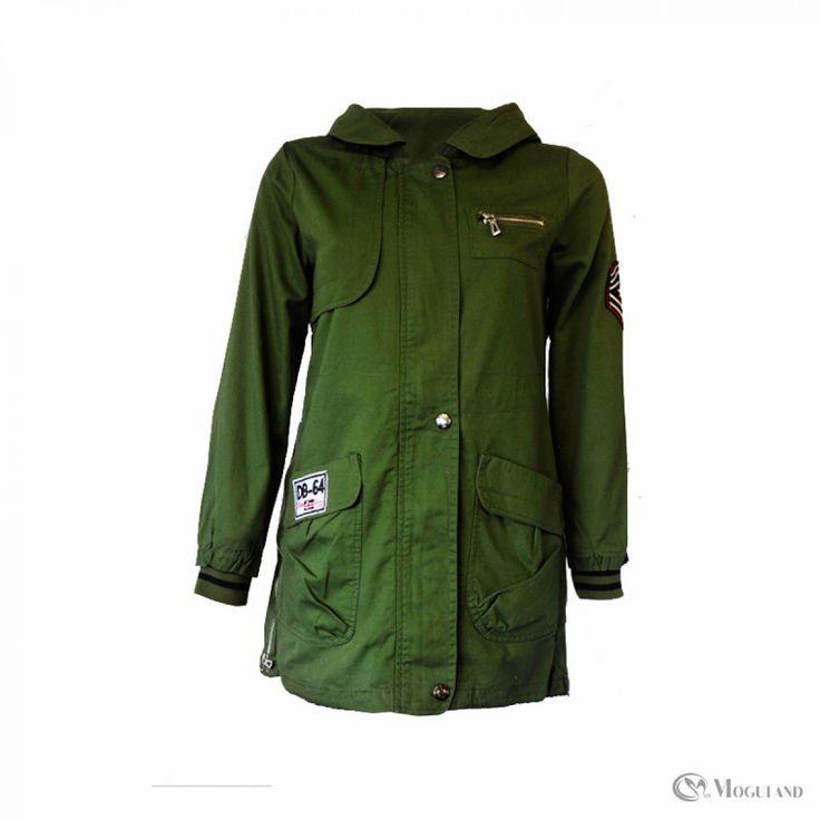 Ladies green military jacket wholesale - coats   Moguland.com - Wholesale…