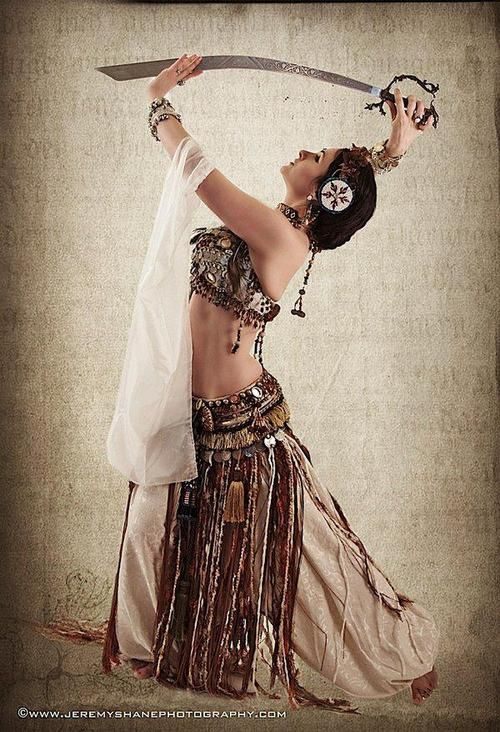 Bellydance. sword pose