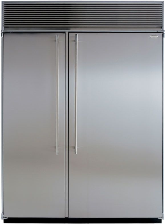 Marvel M60csssp 60 Inch Built In Side By Side Refrigerator With 39 3 Cu Ft Capacity Metal Framed Glass Shelves Storage Bins Twin Compressors And Crescent C Glass Shelves Side By Side Refrigerator