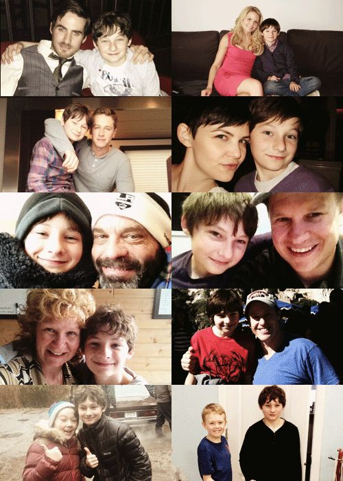 Jared Gilmore + OUAT cast