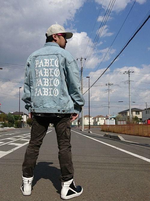 なんと去年、ロスの友達(リック×クロム買ってくれたマイメン)と話していてPabloのデニムジャケット