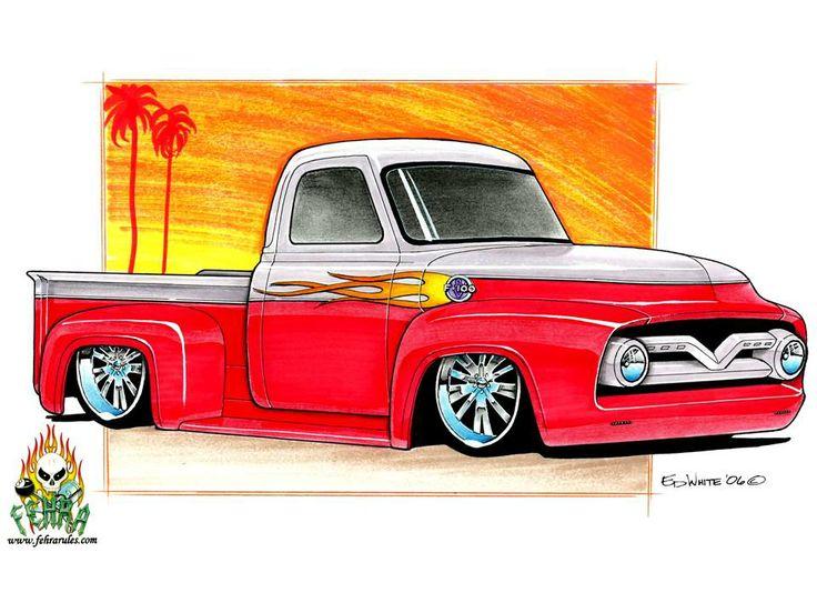 Fast Eddy's Hot Rod Art - TWO TONE