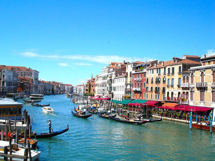 Gondol ve Cafeler - Venedik, İtalya