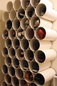 Closet ideas, I think I'm going to use an old book case I already have to put the tubes in.