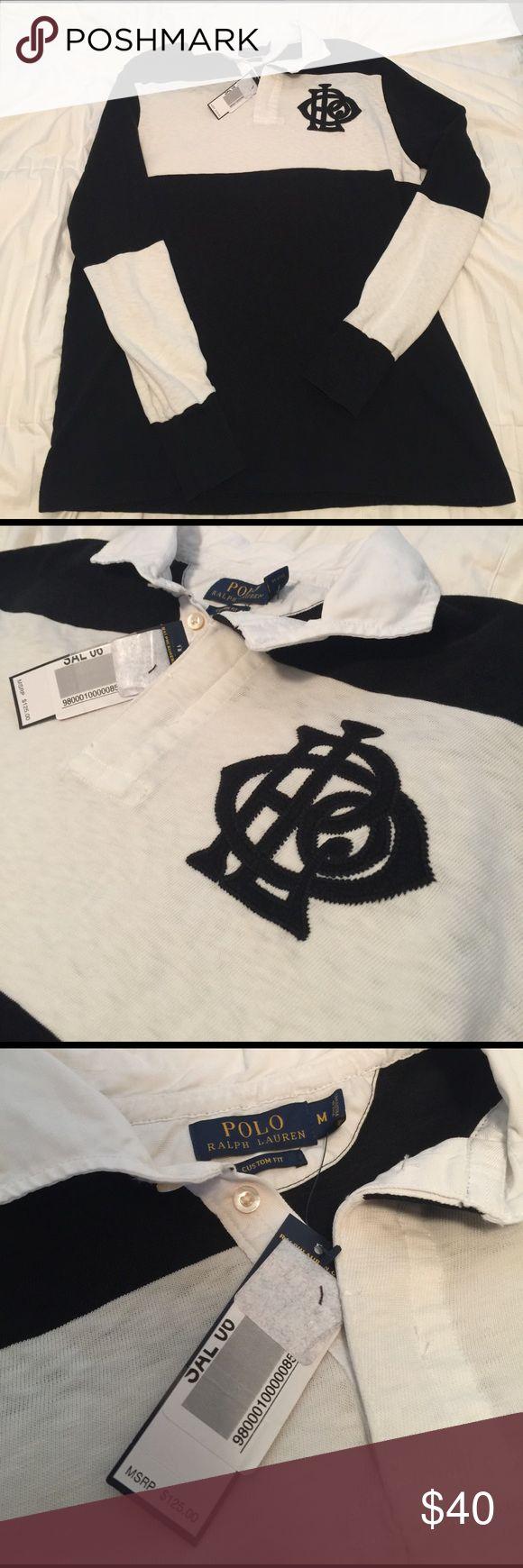 Ralph Lauren Polo Rugby A black/white Ralph Lauren Polo Rugby. Brand New with Tags. Polo by Ralph Lauren Shirts