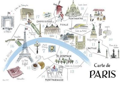 Map Of Paris - Alice Tait