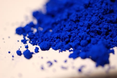 I have blue paint pigment this color from France. Gorgeous!
