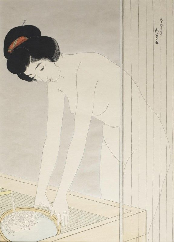 Woman Washing Her Face, 1920, woodblock print on paper, The Walters Art Museum