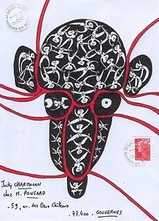 Alain Arnéodo, French artist: French Artists, Art Art Postal, Paper Art, Art Mail, Mail Art Art