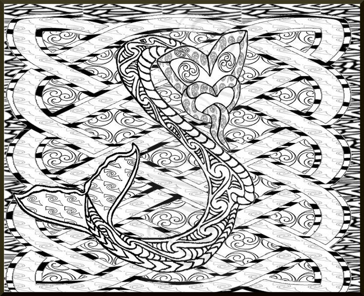 Tiki Taniwha ;Celtic Knots;Lousephyr©2015