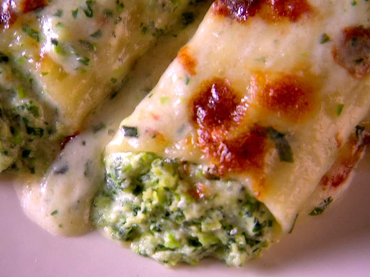 ... ! Swiss Chard and Sweet Pea Manicotti (Winter) from FoodNetwork.com