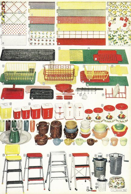 Mid Century Modern vintage 1950s kitchen home decor