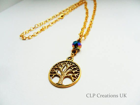 Tree Necklace Mothers Necklace Family Gift Tree Of Life Pendant