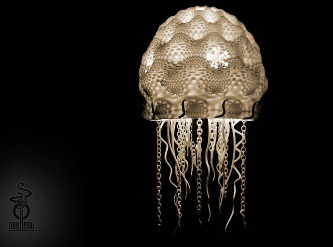 Delightful 3D Printed Jellyfish Lampshade