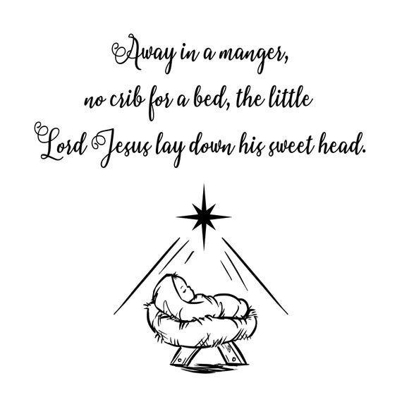Download Away in a manger(SVG, JPG, PNG, Vector, PdF, Digital ...