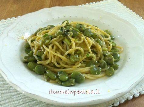 Pasta con fave fresche - Ricetta pasta con fave fresche IlCuoreinPentola