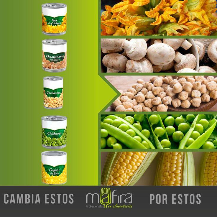 Que sean verduras no significa que enlatadas sigan siendo sanas. Mejor cámbialas por su versión fresca. #TipsMafira