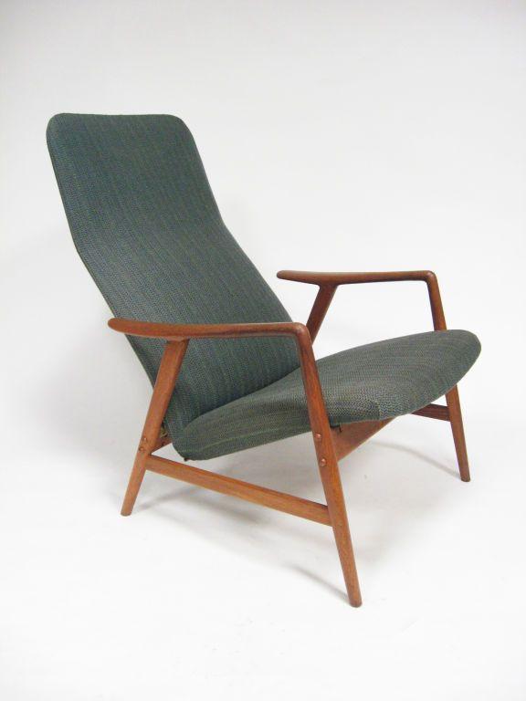 Alf Svensson; Teak 'Kontur' Recliner for Dux, 1950s.
