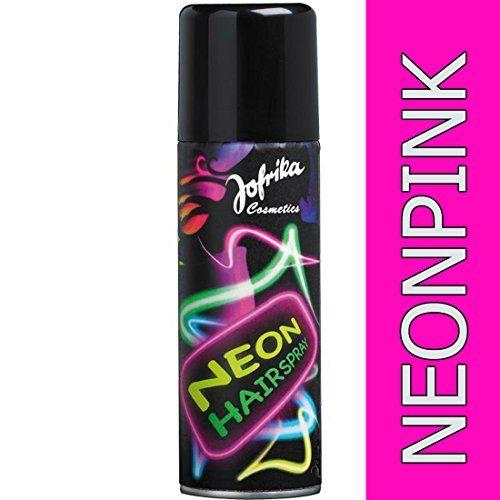 Spray fluo pour les cheveux années 80 rose néon Spray néon pour les cheveux couleur pour cheveux disco soirée déguisée spray fluo Nouvel An…