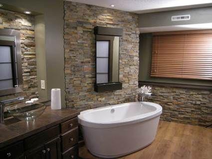 imagenes de baños modernos con piedras - Buscar con Google