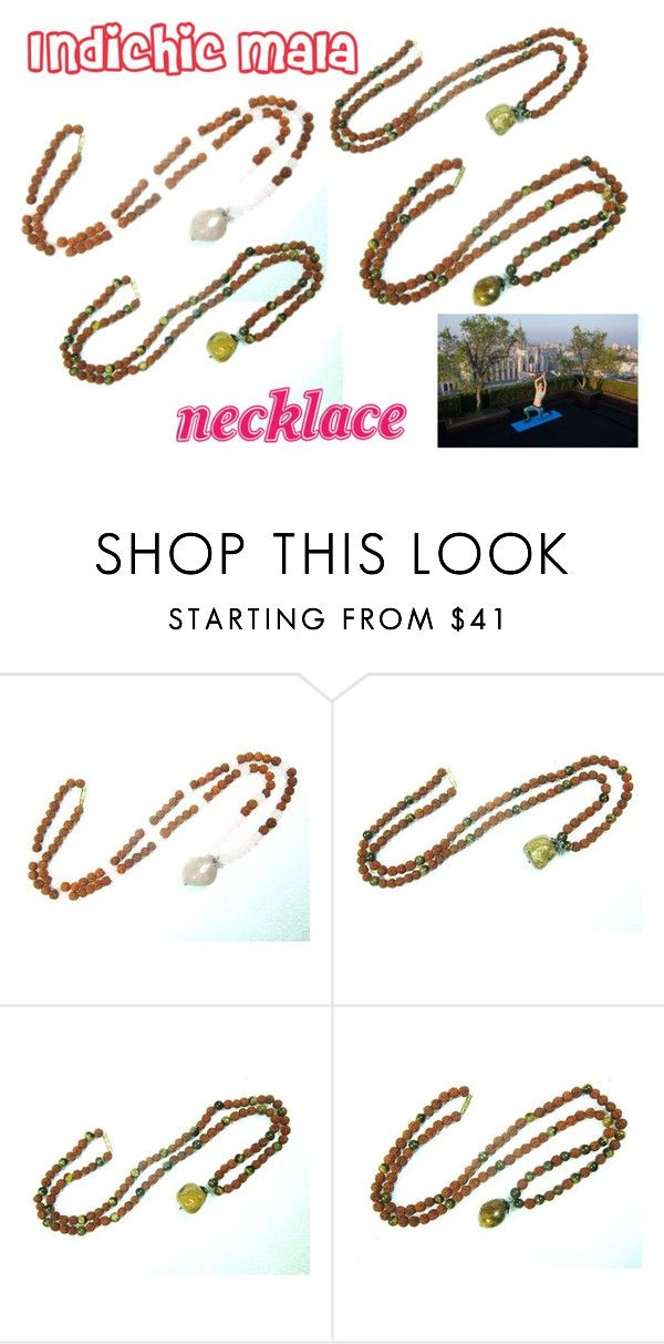 """Indichic Beads Necklace"" by indi-chic-1 on Polyvore featuring NIKE, beads, jewellery, necklace, Mala and indichic"