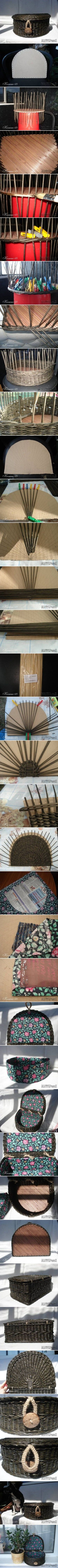 DIY Weave Newspaper Chest DIY Projects