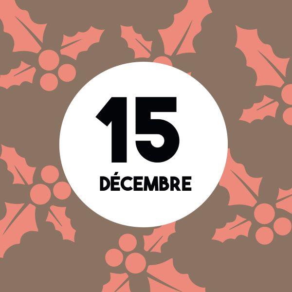 Calendrier de l'Avent : Nous sommes le 15 Décembre... Partagez chaque jour le calendrier de l'Avent sur votre mur pour le faire découvrir à vos amis !  www.merci-facteur.com  http://gph.is/2htI41z  #Jour15 #calendrierdelavent #calendrier #avent #avent2016 #decembre #hiver #noel #cookies #chocolat #calendar #december #winter #christmas #adventcalendar #christmastree