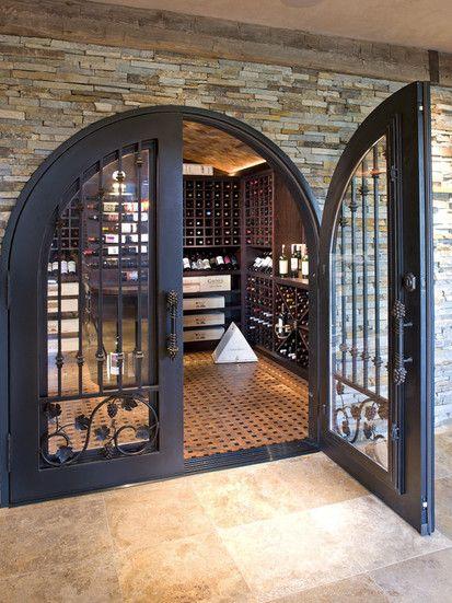 Luxurious Wine Room, Eclectic Wine Cellar, Minneapolis