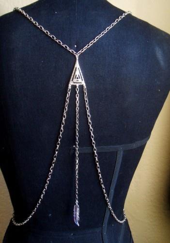 draped body chain