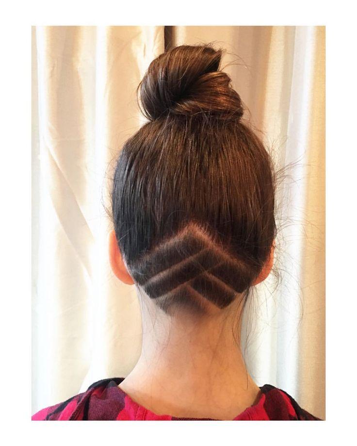 @psa.blizzard_soph new year cut! By @tawshadawn  #jigsawforhair  #hairdesign #topknot #bun