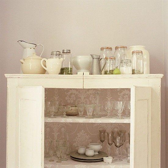 French-style kitchen cupboard.