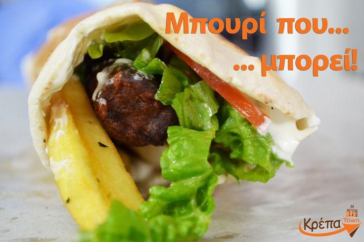 Ένα μπουρί που... μπορεί να σε χορτάσει!!! Κάντε την παραγγελία σας και onine:  👉www.krepatown.gr  👉 http://facebook.com/krepatown/app/701720909911837/ #krepatown #delivery #Συκιές #Νεάπολη #Θεσσαλονίκη