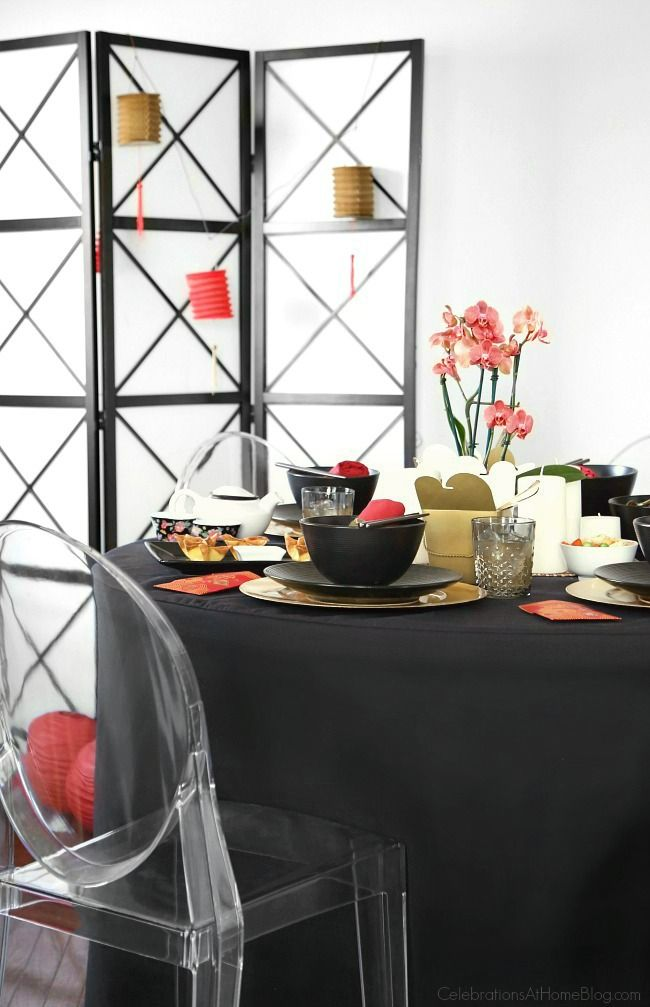 Celebrate Chinese New Year with a Chinese themed dinner party, with inspiration and ideas from Chris Nease. See how to set a Chinese theme tabletop.