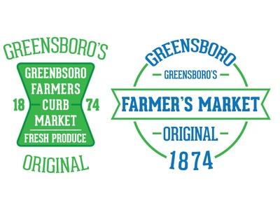 Greensboro Farmers Market Branding. Simplify your message. #branding
