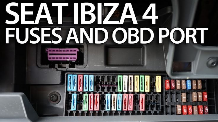 Where are #fuses and #OBD2 port in #Seat #Ibiza MK4 (on-board diagnostic interface) #cars