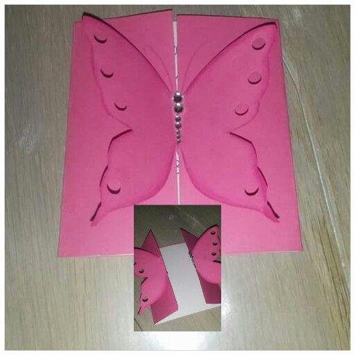Biglietto d'auguri farfalla